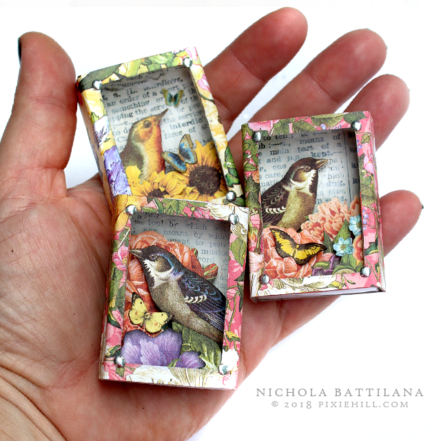 Pretty Bird Matchboxes for Graphic 45 - Nichola Battilana