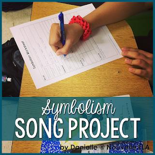 Symbolism Song Project by Danielle at Nouvelle ELA on TeachersPayTeachers