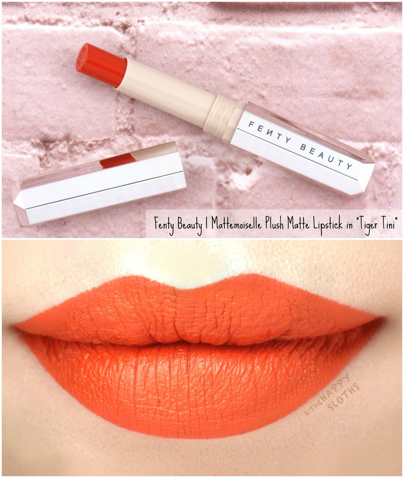 "Fenty Beauty by Rihanna | Mattemoiselle Plush Matte Lipstick in ""Tiger Tini"": Review and Swatches"