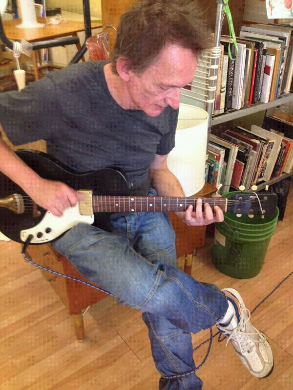 Keith Levene playing his Supro guitar