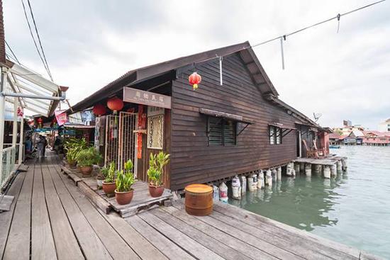 gambar kampung nelayan yang tertata baik