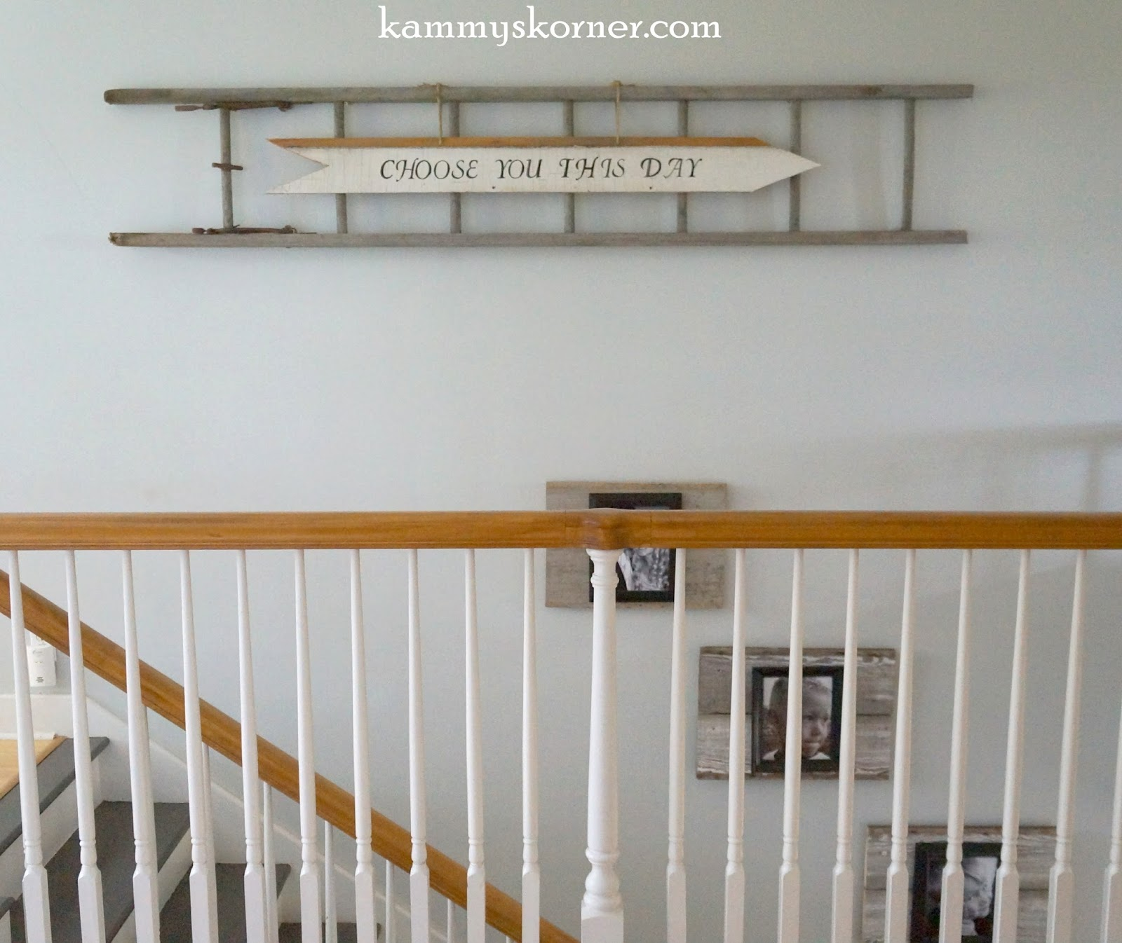 Kammy S Korner Rustic Ladder With Upcycled Arrow Sign