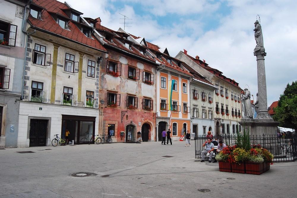 place de la vieille ville de Skofja Loka