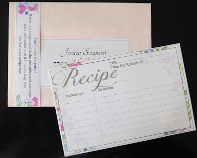 Recipe Cards For Bridal Shower