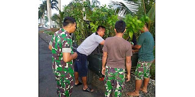Bibit Alpokat dan Durian Terus Didrop ke Lokasi TMMD