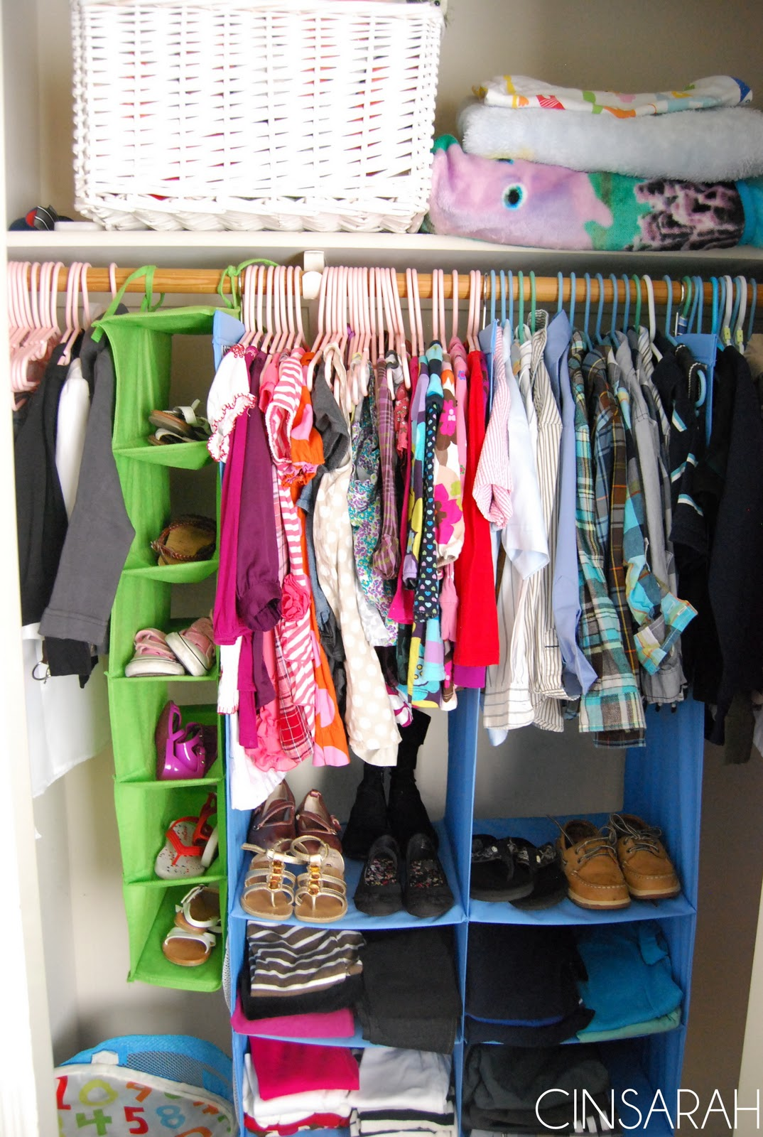 Charming And Here Is The Kids Closet With The New Organizer: