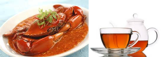 makanan berbahaya Kepiting Dengan Teh