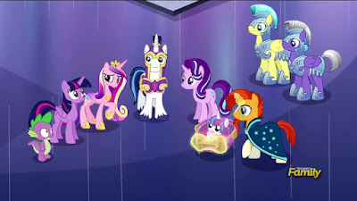 The ponies hold a conference