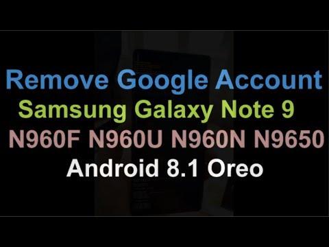 Bypass FRP Lock Google account Samsung Galaxy Note 9 (SM-N960F/FD)