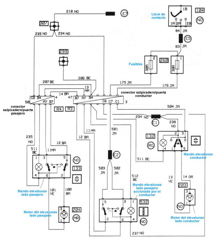 audi diagrama de cableado de lampara