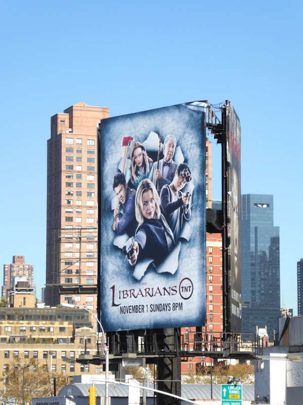 The Librarians season 2 billboard NYC