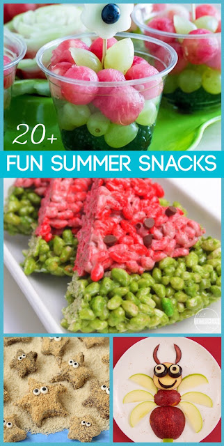 20 fun summer snacks for kids - so many, fun clever, and doable ideas kids will love! Kids activities for summer bucket list