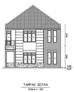 gambar denah rumah dengan coreldraw 3