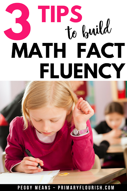 Improve math fact fluency among your students with these three tips. Find links to fun games and activities your elementary students are sure to enjoy, plus math strategy posters to serve as reminders and a few free games! {freebie, 1st, 2nd, 3rd grade} #teacher #teacherspayteachers #homeschool #students #additionfacts
