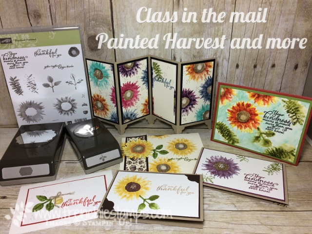 Painted Harvest, Stamping Class in the mail, Stampin'Up!, Frenchie Stamps Class