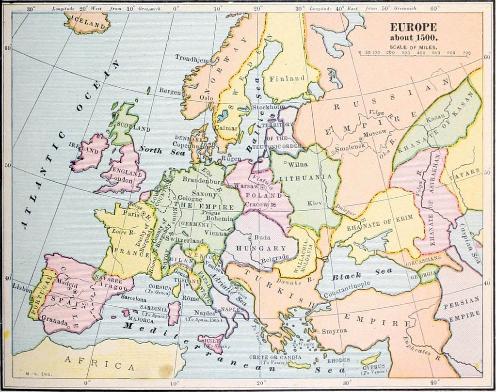 Europe about 1500