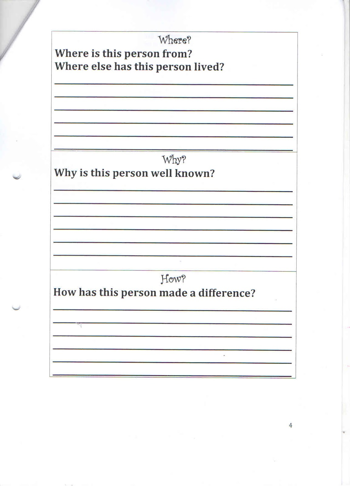 Grade 6 Interview Questions