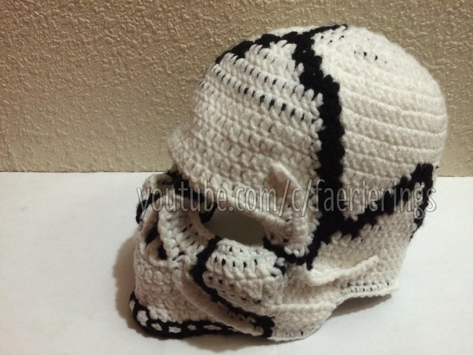 Faerie Rings Crochet Realistic Skull Mask Pattern