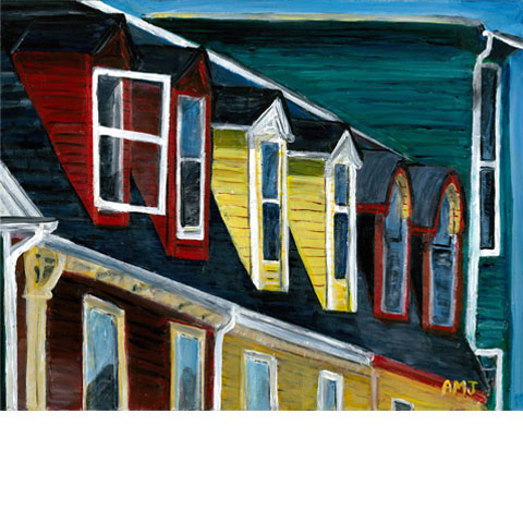"Newfoundland windows- 5""x7"" Art cards"