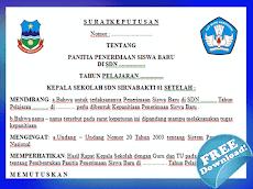 Contoh SK Panitia Penerimaan Siswa Baru