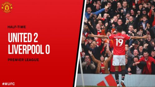HT: Manchester United vs Liverpool 2-0