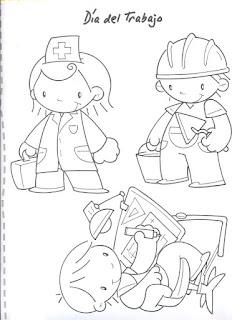 Dibujos para para imprimir y pintar del Día del Trabajador