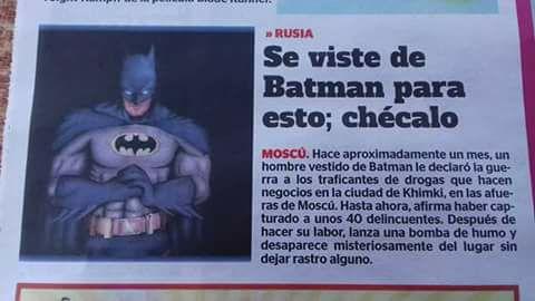 El Batman ruso que pelea contra los narcos