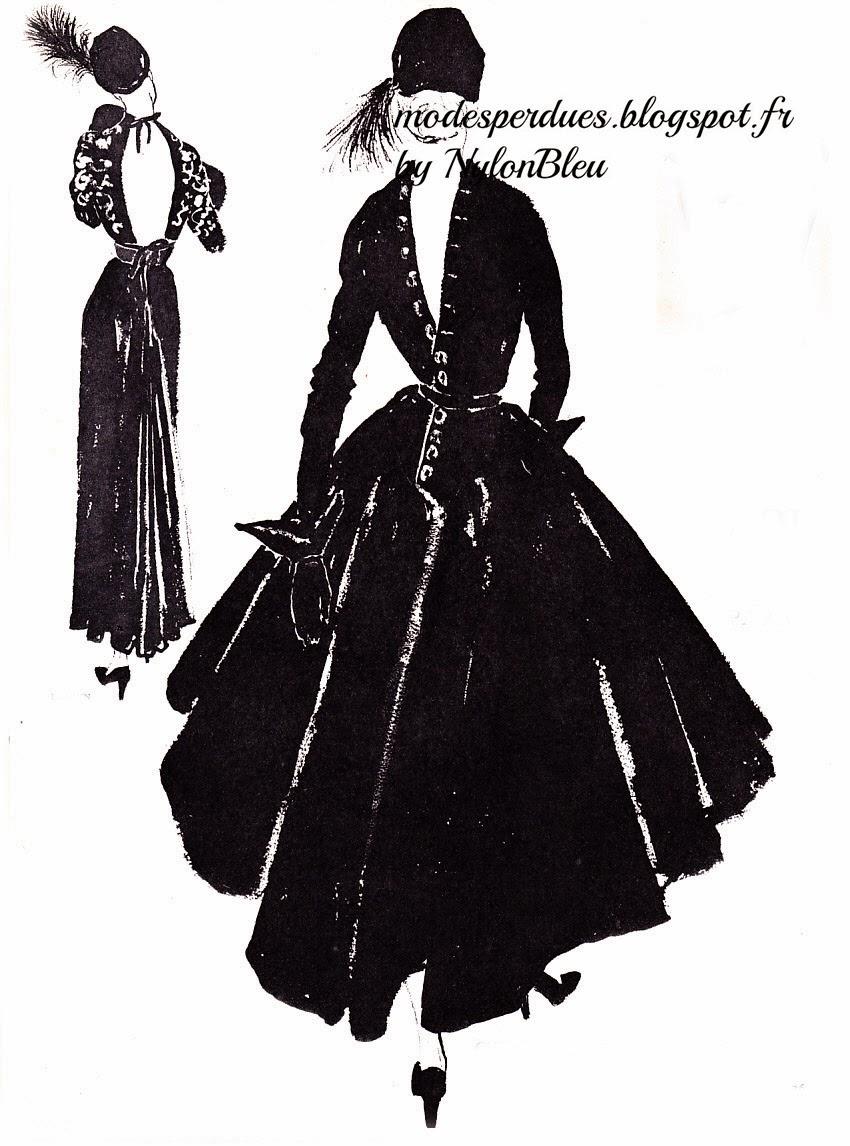 A la recherche des modes perdues et oubli es le jardin - Dessin de couture ...