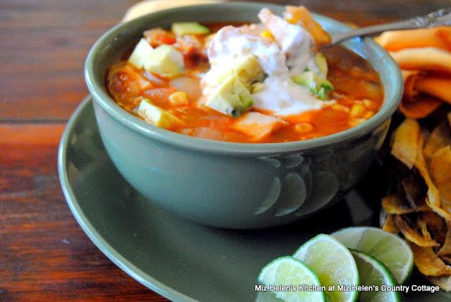 Chicken Enchilada Soup at Miz Helen's Country Cottage