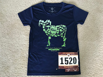 Zion Half Marathon Expo shirt 2018