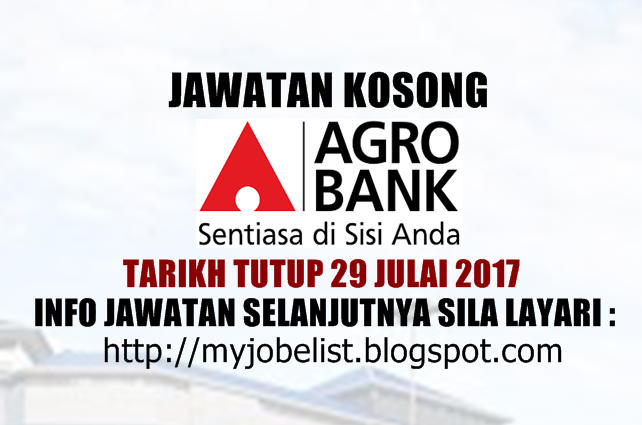 Jawatan Kosong Terkini di Argobank Julai 2017