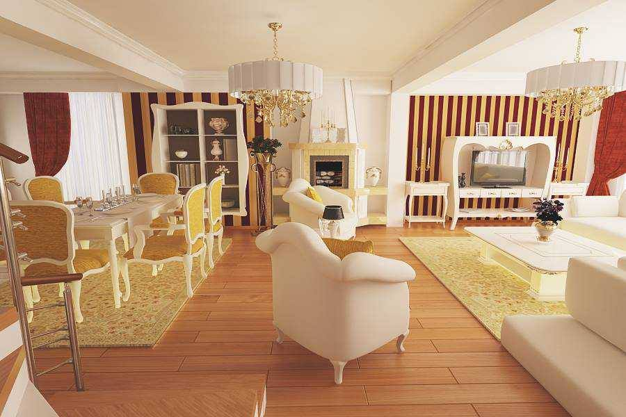 Draft classic interior design houses Bucharest - Nobili Interior Design