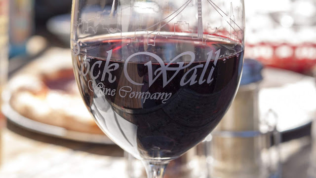 Glass of red wine from Alameda Rock Wall Winery