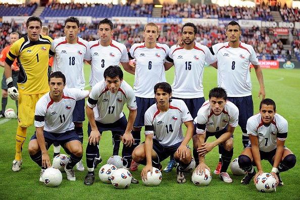 Formación de Chile ante Dinamarca, amistoso disputado el 12 de agosto de 2009