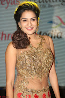 Jenny in brown transparent sleeveless anarkali dress at Shamanthakamani pre release function ~  Exclusive 036.JPG