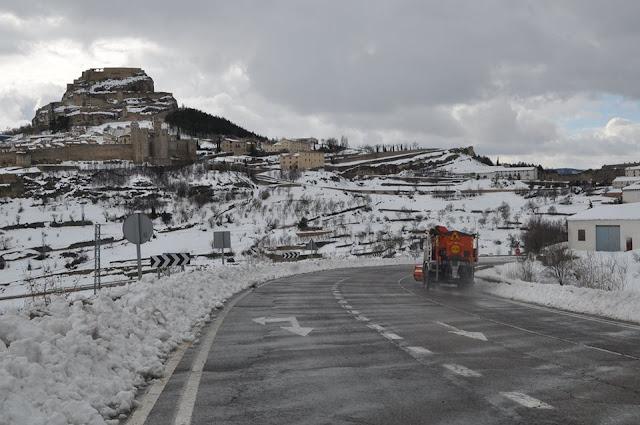 Morella Castellón nevada febrero 2016