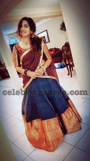 Sirisha Tatakula Raw Silk Half Saree