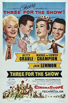 Three For The Show 1957 movieloversreviews.filminspector.com film poster