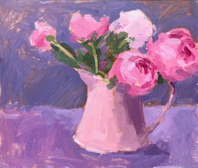 #334 'Pink Peonies' 10×12″
