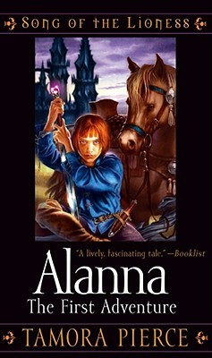 Alanna: The First Adventure Tamora Pierce book cover