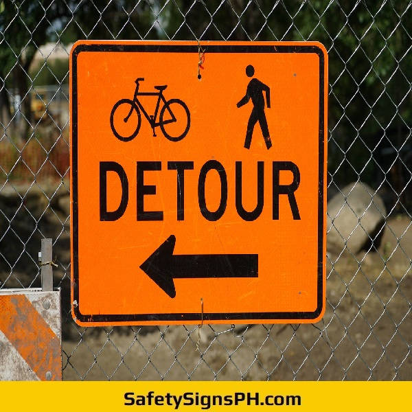 Detour Warning Sign Philippines
