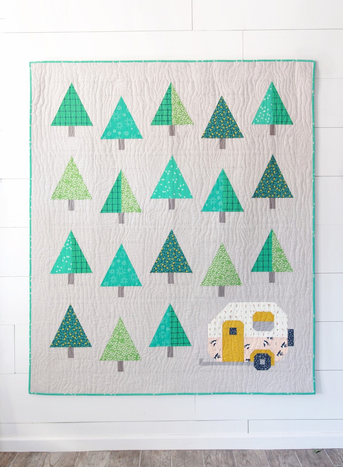Pen + Paper Patterns: Up North Quilt + Snow-Capped Tree Tutorial