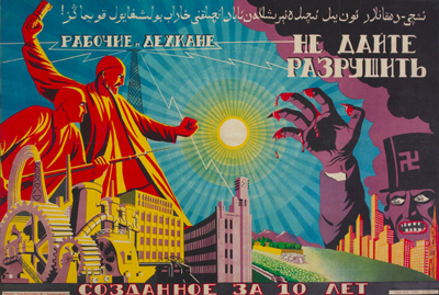 central asian soviet posters, uzbekistan art craft tours