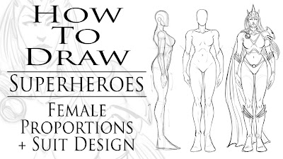 how to draw superheroes female proportions and suit designs how to