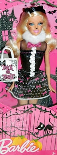 2012 Trick or Treat kitten Barbie doll school girl dress cat