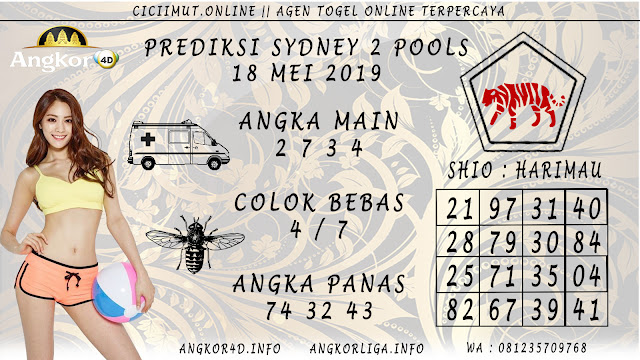 PREDIKSI SYDNEY 2 POOLS 18 MEI 2019
