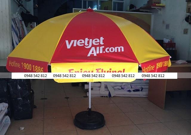 Dù quảng cáo ngoài trời Vietjet Air