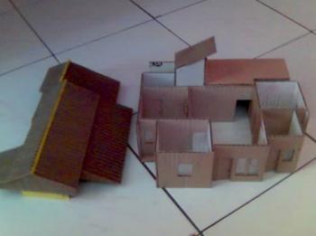 Cara Membuat Miniatur Rumah Adat Jawa dari Kertas Kardus ...