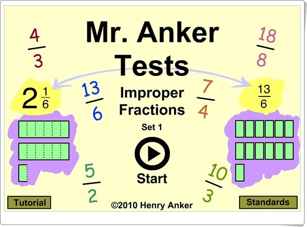 """""""Fracciones impropias"""" (Juego de transformación de números mixtos en fracciones)"""