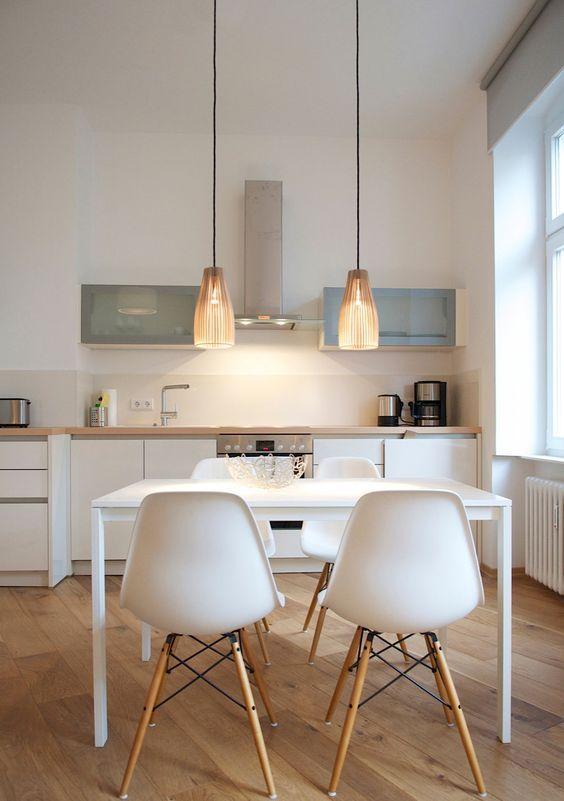 cadeiras Eiffel na decoração cozinha